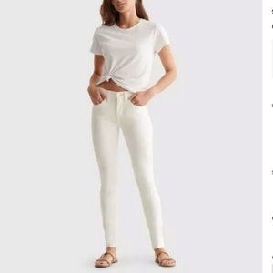 NWT Lucky Brand Mid Rise Ava Skinny White Jeans 0